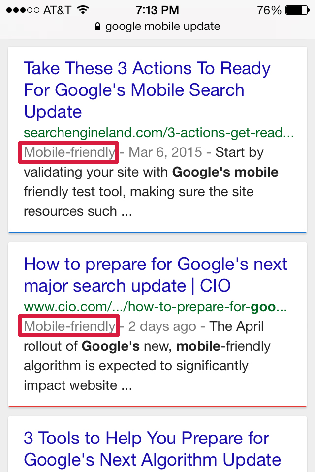 You Will Lose Local Google Traffic If Site Not Mobile By April 21st