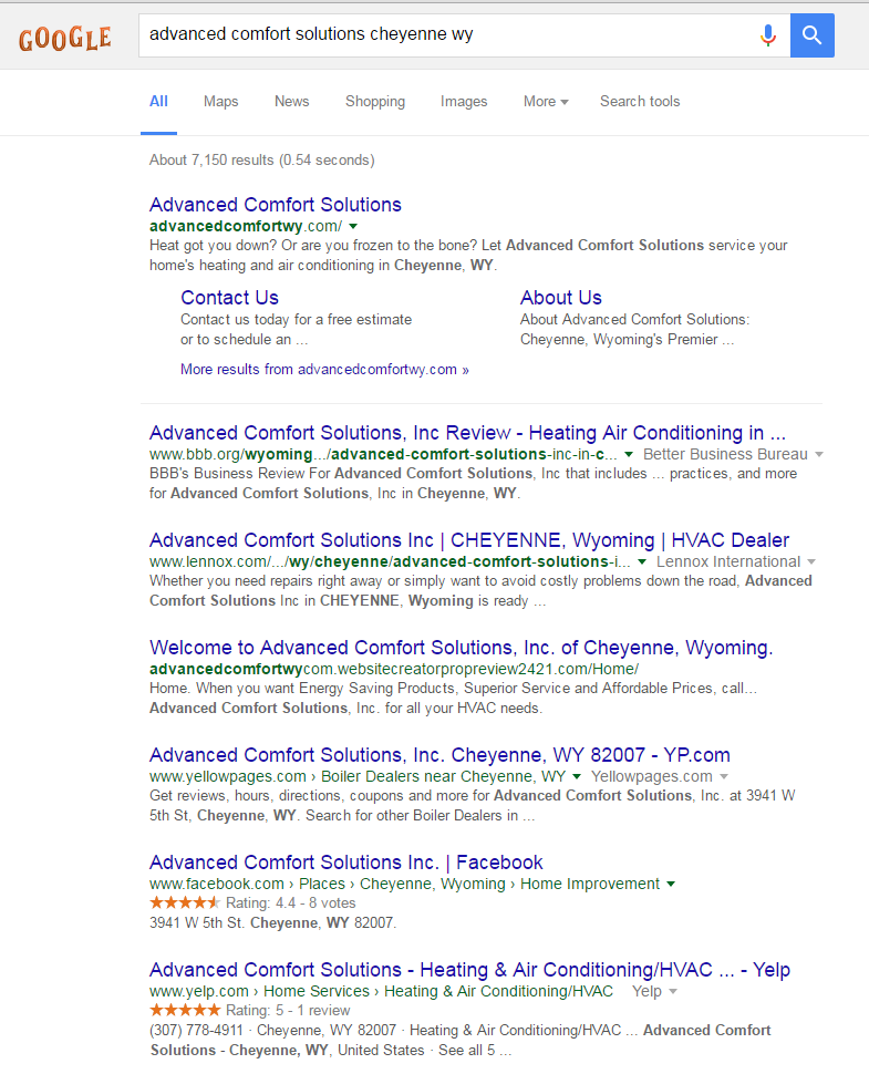 search-results-to-show-indexing-local-business